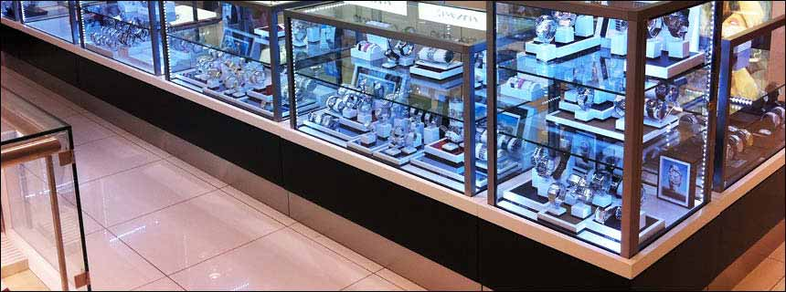 Glass Display Counters by Showfront