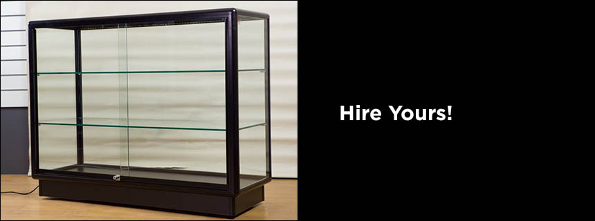 Hire Full Glass Counter Displays by Showfront
