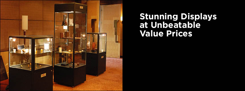 Hire Pedestal Cube Display Cabinets by Showfront