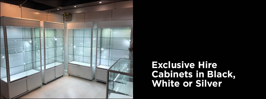 Display Stand Hire Sydney : Hire display cabinets upright glass window showcases for