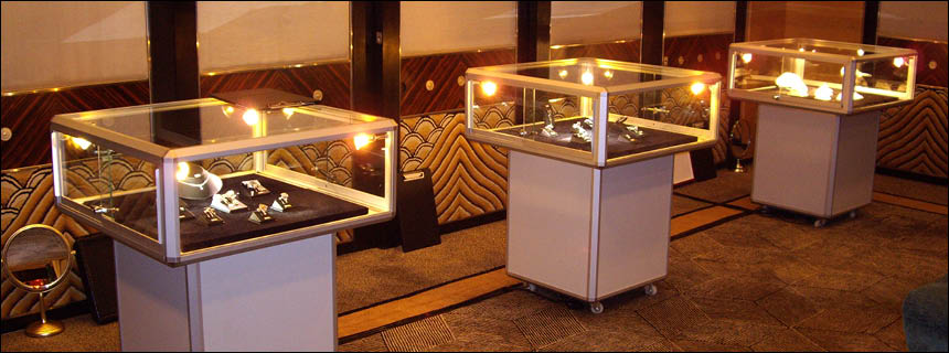 Mushroom Display Cabinets by Showfront