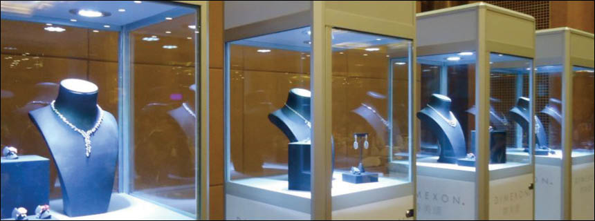 Tower Display Cabinets by Showfront
