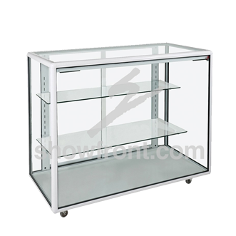 Hire Full Glass Counter Display Cabinets