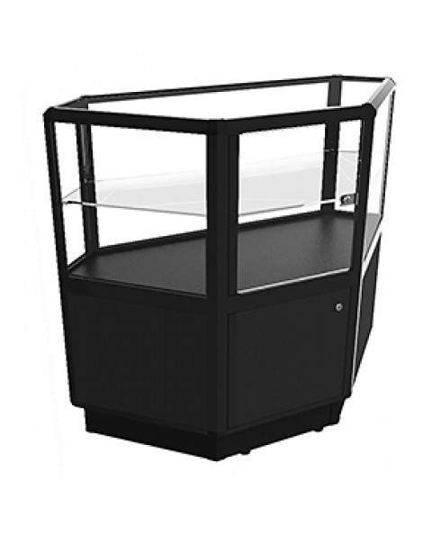 Black CCTSL 950 Shop Counter Corner Unit - Fully Assembled