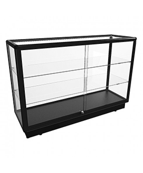 Black CTGL 1400 Full Glass Counter Display Cabinet - Fully Assembled