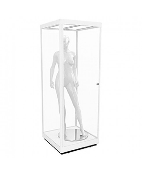 MANQ800H Mannequin Tower Display Cabinet with LED Panels by Showfront