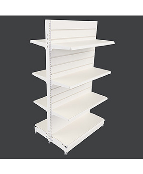 MR25-DS Gondola - Double Sided Bay with Slatwall Panel Back