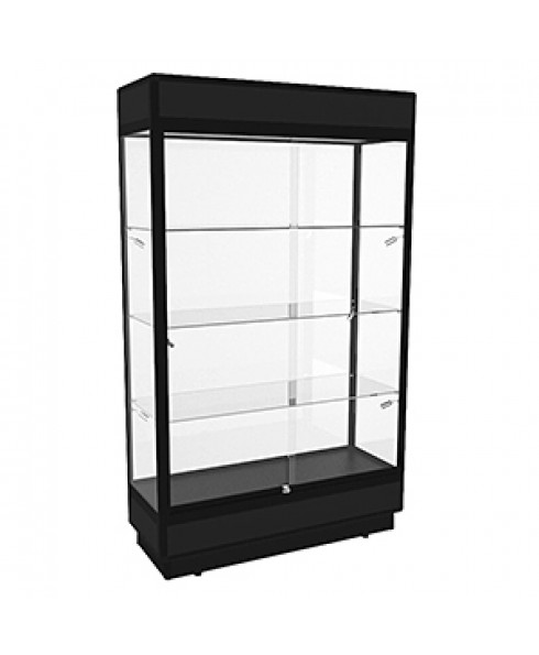TPFL 1200 Black Upright Glass Display Cabinet with LED Downlights by Showfront