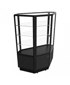 CCTSL 1400 Black Shop Counter Corner Unit by Showfront
