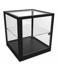 CTC 600 Black Counter Top Cube Display Case by Showfront