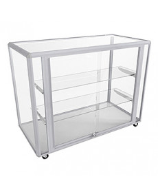 Hire CTGL Silver Full Glass Counter Display Cabinet by Showfront
