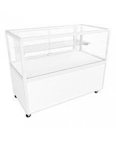 Hire CTSL White Counter Display Cabinet with Additional Storage and Lockable Doors by Showfront