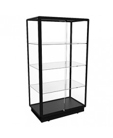 TGL 1000 Black Upright Glass Display Cabinet by Showfront