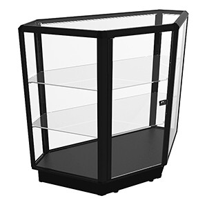 CCTGL 950 Counter Corner Unit Full Glass– Fully Assembled