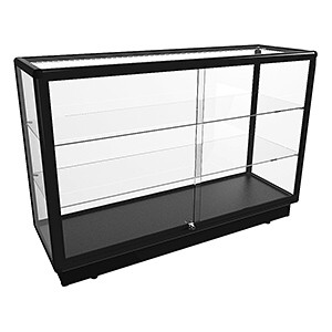 CTGL 1400 Full Glass Counter Display Cabinet - Fully Assembled