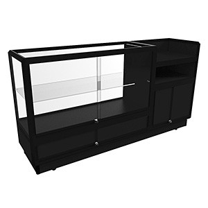SCGD 1800 Service Counter with Glass Display Cabinet – Fully Assembled
