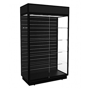 TGF 1200 Display Cabinet with Slatwall Panel - Fully Assembled