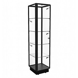 TGL 450 Tower Display Cabinet with LED Spotlights - Fully Assembled