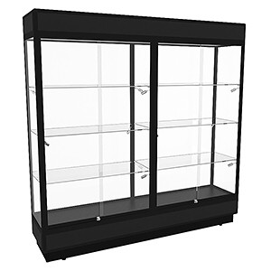 TPFL 2000 Upright Glass Display Cabinet with LED Downlights – Fully Assembled