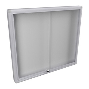 WM 1000 Lockable Notice Board - Fully Assembled