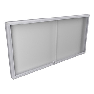 WM 1800 Lockable Notice Board - Fully Assembled