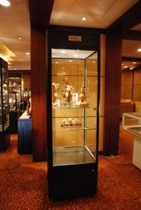 Black Tower Display Cabinets by Showfront