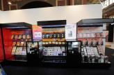 Black Slatwall Display Unit at Australia Post Exhibition for launch of Black Caviar Stamp