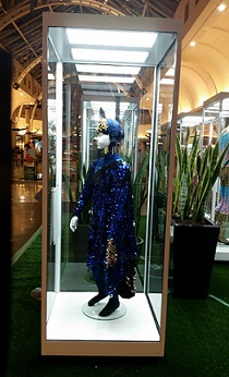 A Showfront mannequin display cabinet used by Cirque Du Soleil for their exhibition in Highpoint SC