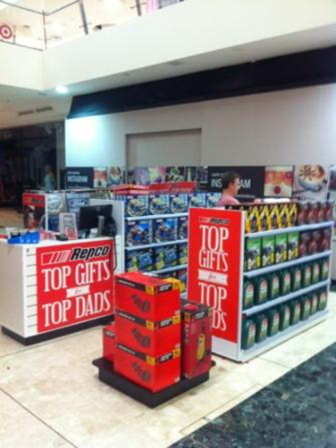 Repco pop-up shop by Showfront at Westfield SC, Melbourne