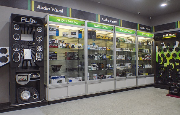 Showfront Display Cabinets at Autobarn