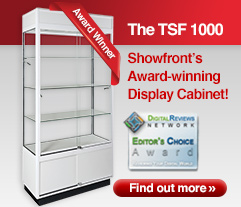 Award-winning TSF 1000 Upright Glass Display Cabinet