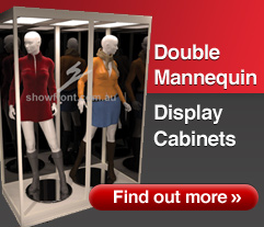 Double Mannequin Display Cabinets from Showfront