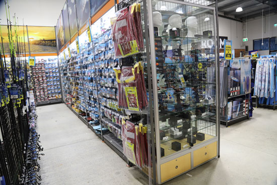 Upright Display Cabinets in Anaconda for Fishing Gear