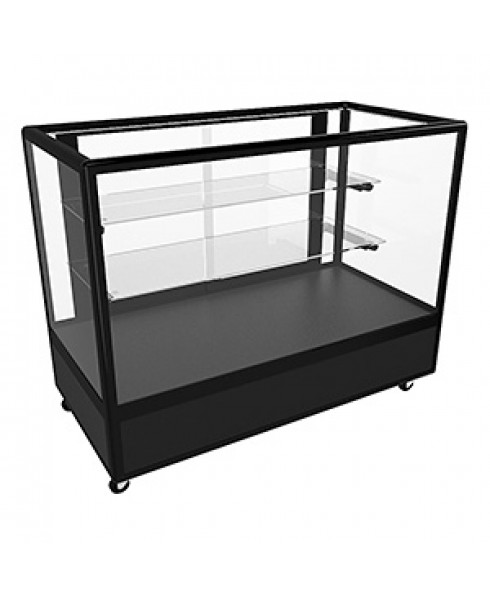 Hire CTGSL Black Counter Display Cabinet with Adjustable Shelves and Storage by Showfront