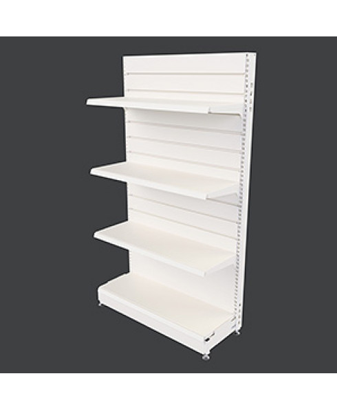 MR25 SS Gondola Single Sided Bay with Slatwall Panel Back by Showfront