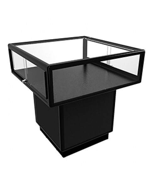 MUPL Black Mushroom Display Cabinet With Storage by Showfront