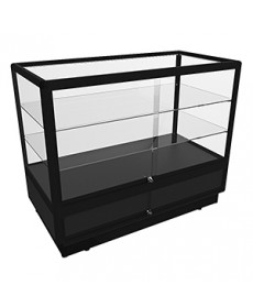 CTGSL 1200 Black Counter Display Cabinet with Additional Shelves and Storage by Showfront