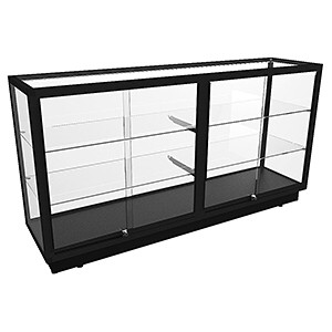 CTGL 1800 Full Glass Counter Display Cabinet - Fully Assembled