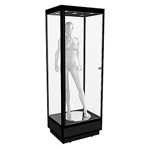 MANQS Mannequin Tower Display Cabinet with LED Downlights