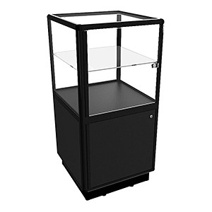 CBDL Pedestal Display Case With Storage - Fully Assembled