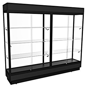 TPFL 2400 – Upright Glass Display Cabinet with LED Downlights – Fully assembled
