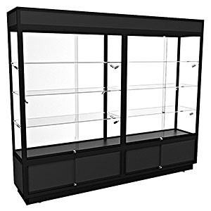 TSF 2400 – Upright Display Cabinet with LED Downlights and Storage – Fully assembled